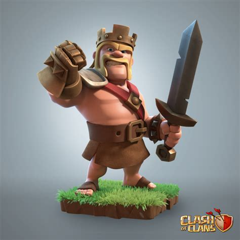 ArtStation - Barbarian King - Clash of Clans, Supercell Art