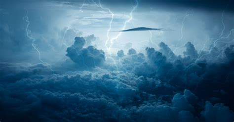 Photo of thunder and stormy sky free image