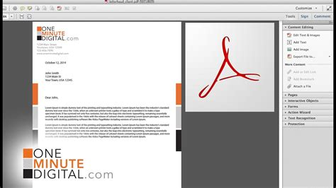 Make an Editable PDF Letterhead and Lock it - from