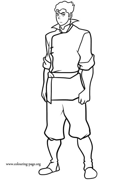 The Legend of Korra - Bolin coloring page