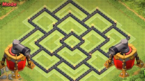 Clash of Clans - Town hall 9 (TH9) War Base and Trophy