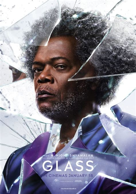 Glass character posters featuring Samuel L