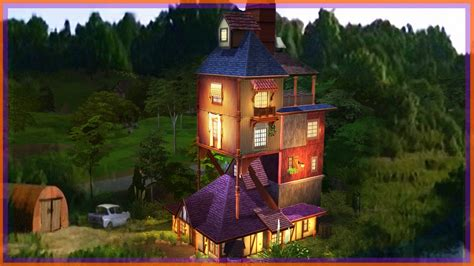 Building THE WEASLEY'S BURROW l Sims 4 (Harry Potter
