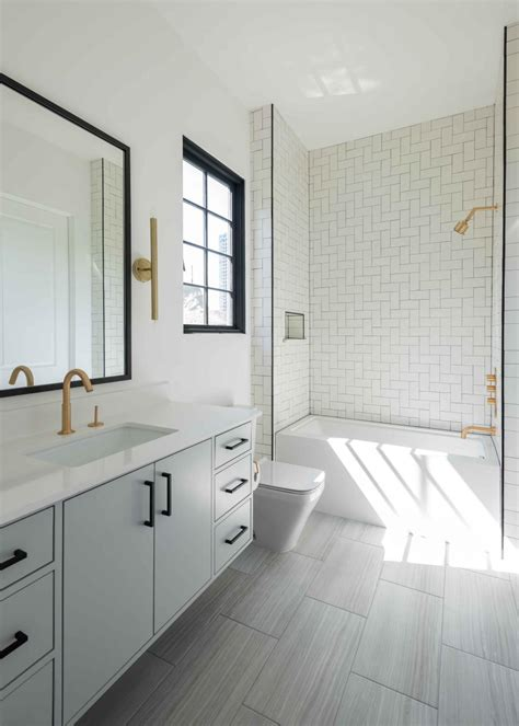 Bright White Bathroom is Contemporary, Sophisticated | HGTV