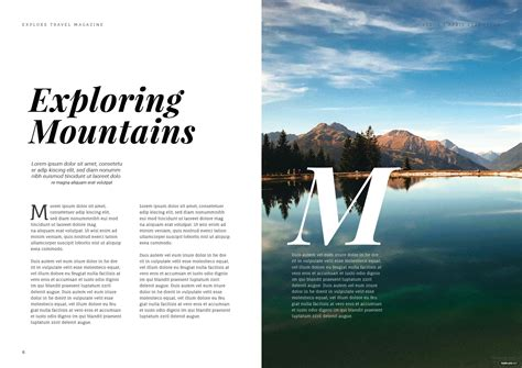 Free Travel Magazine Template in Adobe InDesign   Template