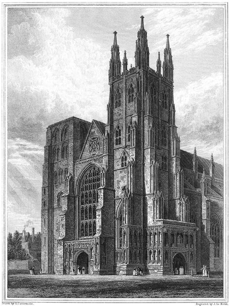 Canterbury Cathedral, the Western Towers – Old Book