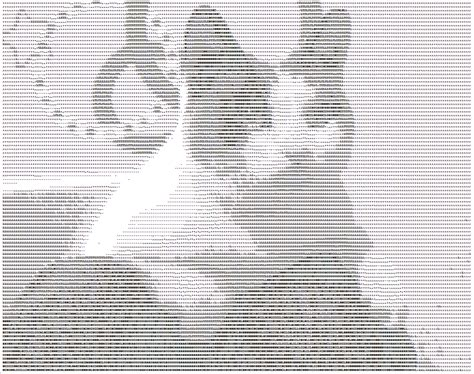 ASCII Art Cats Gallery of Pictures made from Letters and
